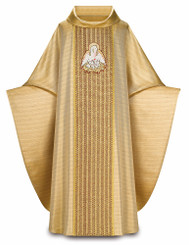 Gothic Chasuble in Tiara fabric with Band and Pelican Emblem