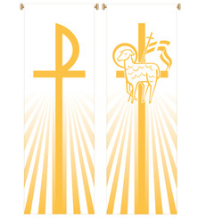 Inside Banner with Chi-Rho or Lamb of God Design