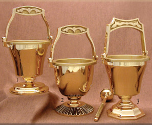 Bronze Holy Water Pot with Sprinkler HWP1