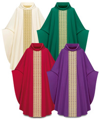 Gothic Chasuble in Brugia fabric with gold colored Band
