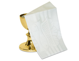 Complete Mass Linen Set with Woven Eucharistic motif