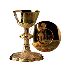 Chalice and Scale Paten with Engraved Medallions