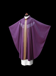Hand-woven Chasuble with Chalice Veil