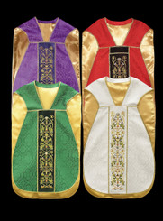 Roman Chasuble with Embroidery on Velvet Panels