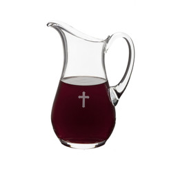 "Glass Flagon, 56oz. 9.75""H"