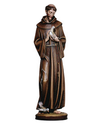 St Fransic with Two Doves Statue