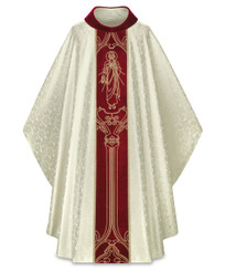 """Divine Mercy"" Gothic Chasuble in Duomo Fabric"