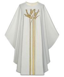 Gothic Chasuble with Embroidery in Lucia Fabric