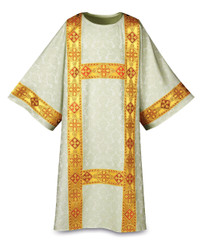 Dalmatic in Duomo fabric with Gold Band