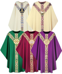 Gothic Chasuble in Dupion Fabric with Emblem