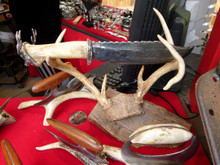 Deer Head Knife with Antler Stand