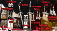 6Flamingos  Pewter Cast  Ear-Rings