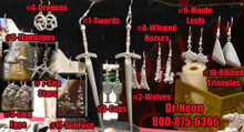 9Maple Leafs Pewter Cast  Ear-Rings
