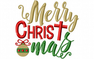 Machine Embroidery Design Merry Christ Mas