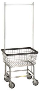 R&B #100E:  Laundry Cart w/double pole hanger