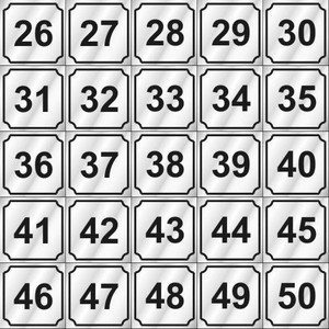 Vend-Rite Washer ID #'s 26-50