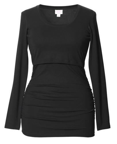 Flatter Me Top, long sleeve (black)