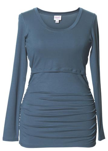 Flatter Me Top, long sleeve (blue lake)