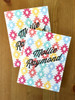 Handmade folded note cards, great for all ages!