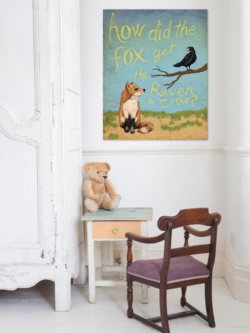 Fox and Raven Art Print