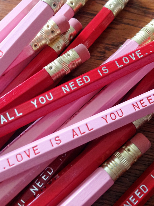 Love is All You Need Pencil 6 Pack