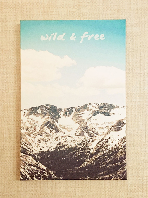 """""""All Good Things are Wild and Free"""" - Thoreaux // Fabric print inspired by the beauty of the Rocky Mountains by Earmark Social Goods"""