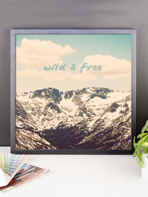Wild and Free Framed Poster Print