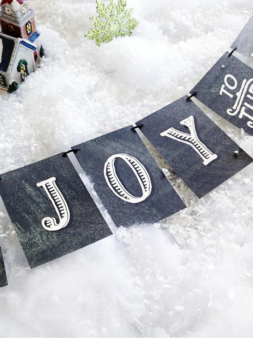 Joy to the World Christmas Banner