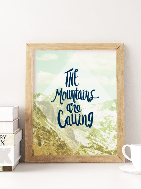 Beautiful hand-lettered art print for any nature lover.