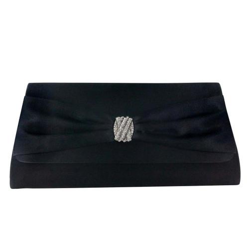 Liz Rene Handbag Brandy - B729 Black Satin