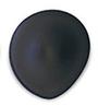 Tear Drop Black Seamless Breast Cups - Size A