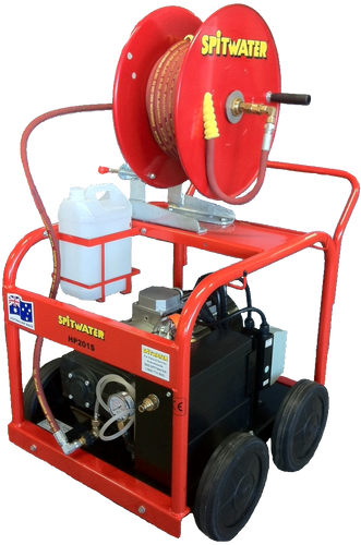 Shown with optional hose reel and 20 metres