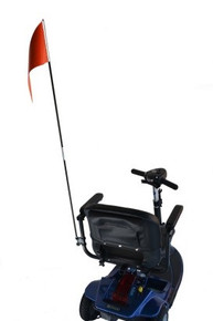 Diestco Folding Safety Flag w/ Mounting Hardware for Scooters/Powerchairs - F1100