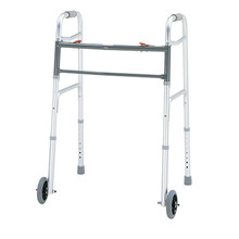"Merits Bariatric Folding Walker w/ 5"" Wheels - W144"