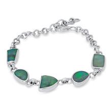 Lost Sea Opals Multi Stone Sterling silver Bracelet