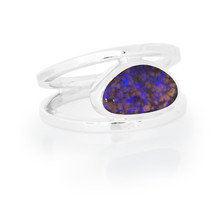 Lost Sea Opals- crystal opal - silver ring