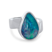 Dark Crystal opal - Lost Sea Opals - Silver Ring