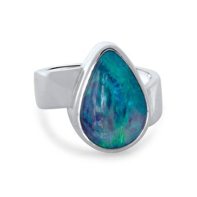Dark Crystal opal - Lost Sea Opals - Silver Ring