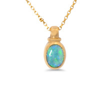 Light Opal 9k Pendant - Petite