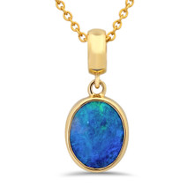 Lost sea Jewels - Black Opal Gold pendant
