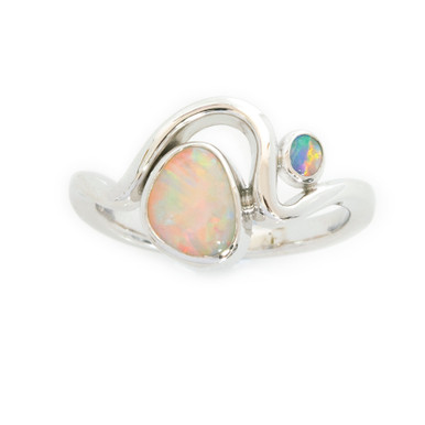 Lost Sea Opals - White gold - crystal opal ring