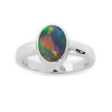Lost Sea Opals - White Gold Black Opal Ring
