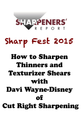How to Sharpen Thinners and Texturizer Shears with Davi Wayne-Disney of Cut Right Sharpening