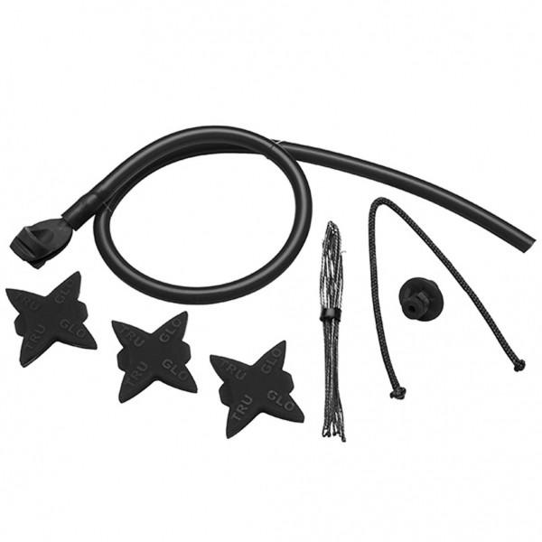TruGlo Bow Accessory Kit w/ peep loop, kisser, silencers - Black
