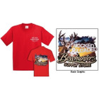 Deer Graphic T Shirt Red Large