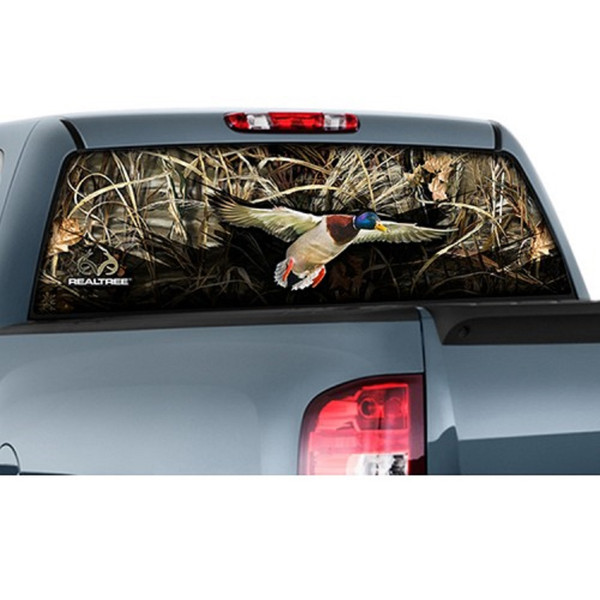 "CamoWraps 20"" x 66"" - Window Film Graphics Duck with Realtree Max 5"