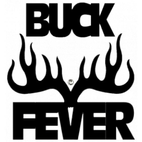 Buck Fever Vinyl Window Decal 6x6 4112 Decals