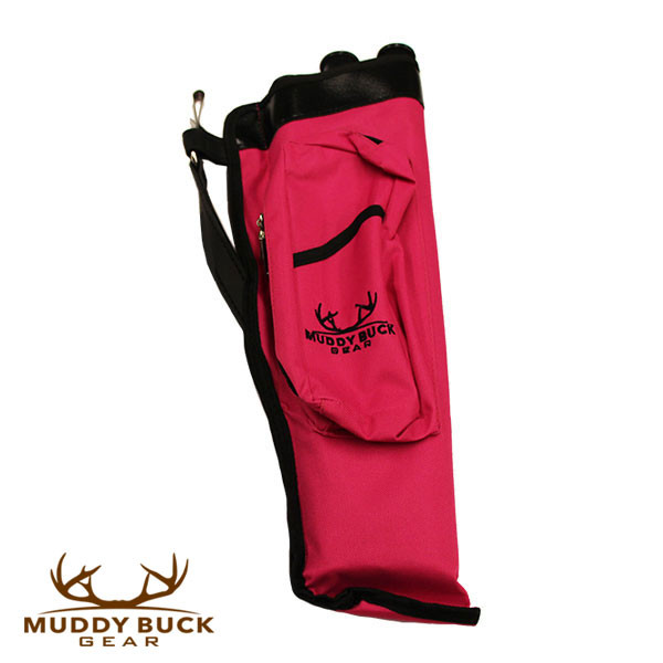 Muddy Buck Gear 3 Tube Codura Quiver Hot Pink