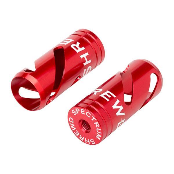 Shrewd Spectrum Series Stabilizer End Cap Red 2pk