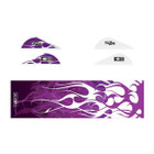Bohning True Color Blazer Vane / Wrap Combo, Purple Flame - 101040PF